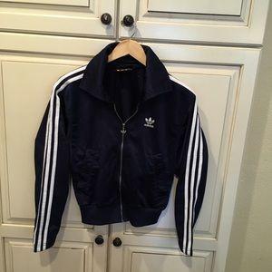 Vintage 90s adidas trackjacket m navy blue